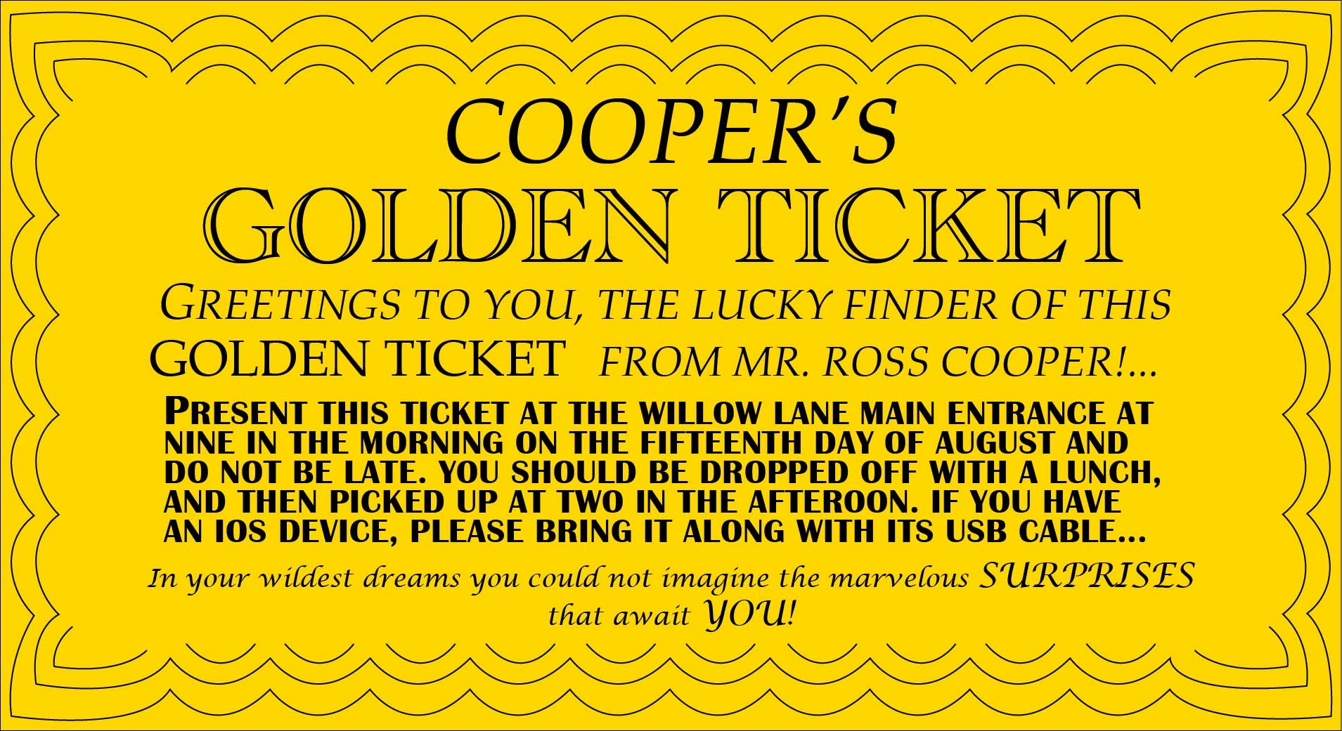 polar express golden ticket template - september 2013 ross cooper
