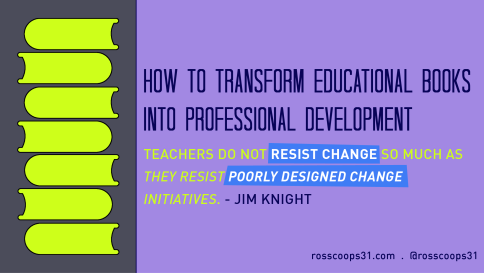 How to Transform Educational Books into Professional Development