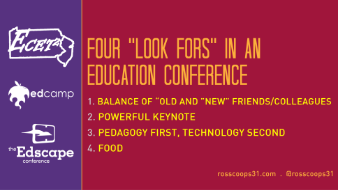 Four %22Look Fors%22 in an Education Conference