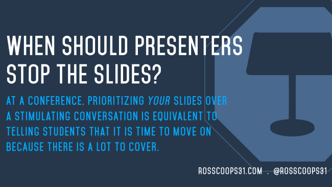 When Should Presenters Stop the Slides?